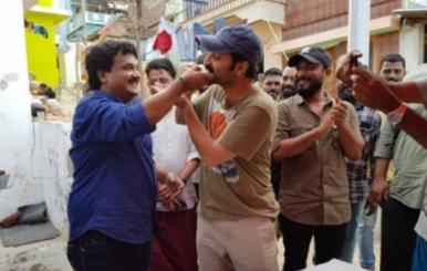 Fahadh Fazil Birthday Celebration at Velaikkaran Set Stills