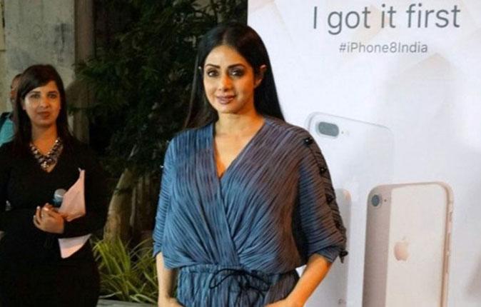 Sridevi in Iphone 8 Launch Stills