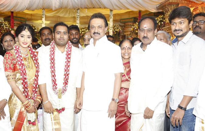 Producer Abinesh Elangovan - Nandhini Wedding Stills