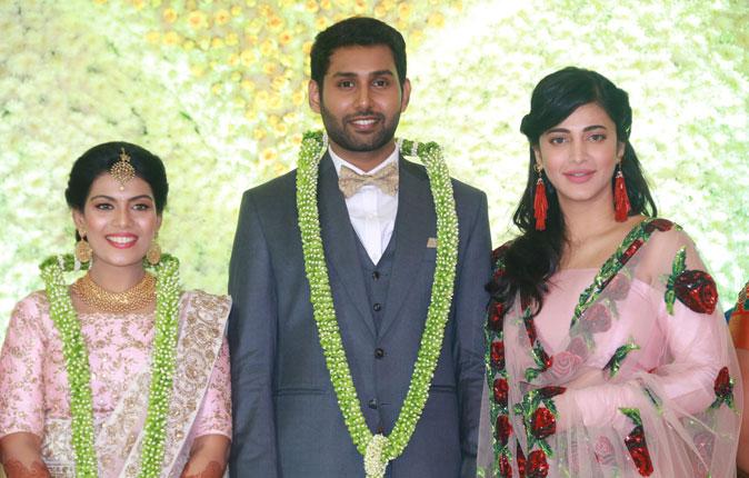 Aadhav and Vinodhni Wedding Reception Stills