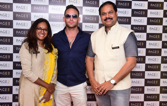 Hollywood Actor Adam Collins in Page Salon Inauguration Stills