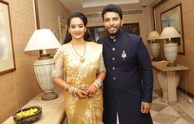 Actress Suja Varunee weds Actor Sivakumar Wedding Reception Stills