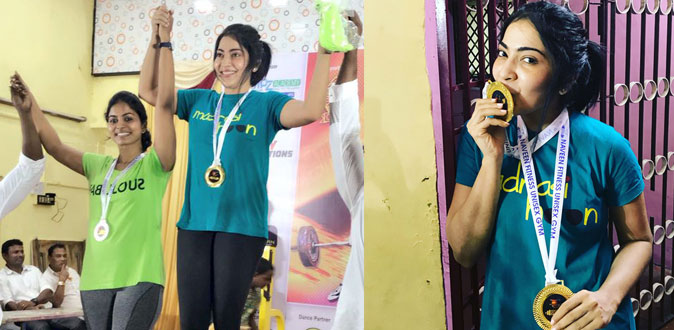 VJ Ramya won the two Gold Medal for Power Lifting