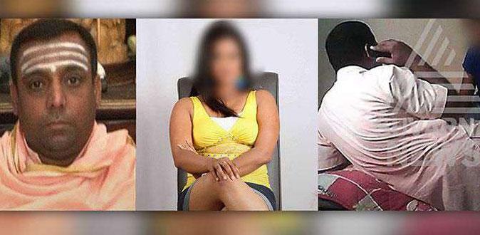 நடிகையுடன் உல்லாசத்தில் ஈடுபட்ட சாமியார் - வைரலாகும் வீடியோ!