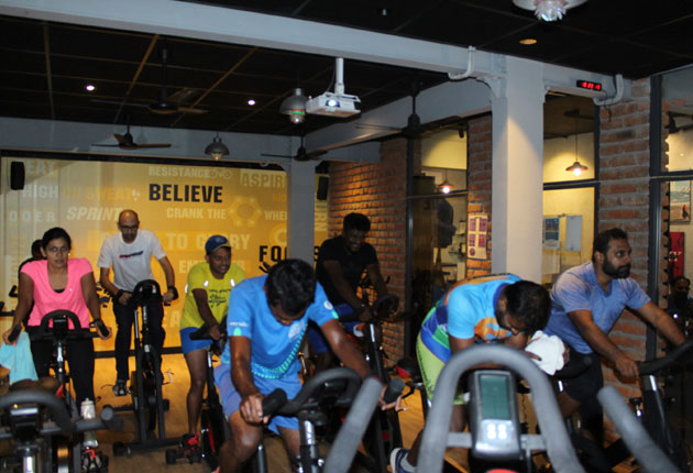 Indoor Crit Race organized by PedalBeat & Tamilnadu Cycling Club
