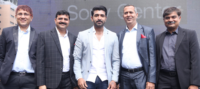 Arun Vijay inaugurates the New Sony Center in Nungambakkam