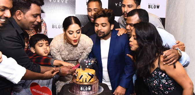Bindu Madhavi inaugurates Salon Blow at Velachery