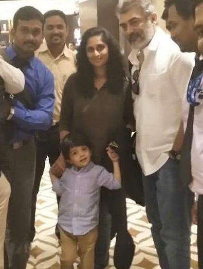 viswasam movie ajith son family images