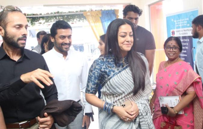 Surya and Jyothika in Promed Hospital Inauguration Stills