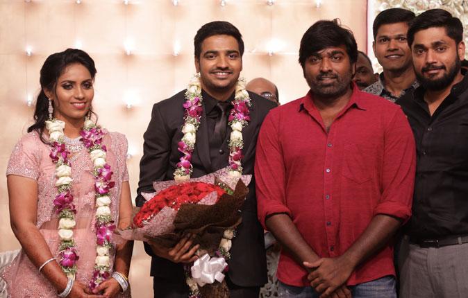 Actor Sathish - Sindhu Wedding Reception Stills